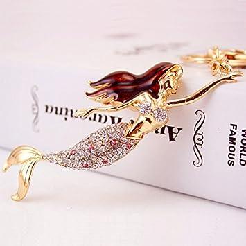 The Little Mermaid Ariel Diamante Keyring Rhinestone handbag Charm Bling  NEW