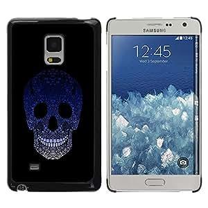 Be Good Phone Accessory // Dura Cáscara cubierta Protectora Caso Carcasa Funda de Protección para Samsung Galaxy Mega 5.8 9150 9152 // Sugar Skull Blue Gradient