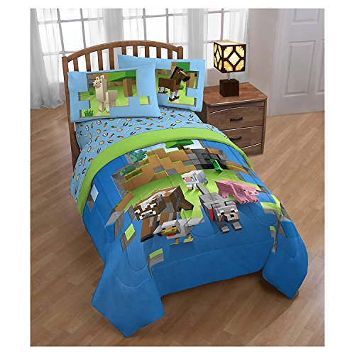 Minecraft Animals Full/Queen Comforter & FULL Sheets ~Very Hard to Find~ Fast Shipping by Franco