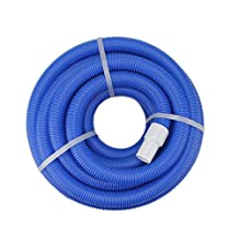 NorthLight Blue Blow Molded PE In Ground Swimming Pool Vacuum Hose, 36 ft. x 1.25 in.