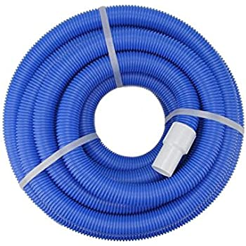 Blue Blow Molded PE In Ground Swimming Pool Vacuum Hose With Swivel Cuff