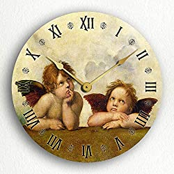 Classical Creations Raphael's Sistine Madonna Daydreaming Angels Cherubs 12 Silent Wall Clock
