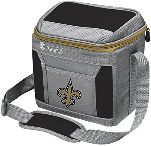 NFL Soft-Sided Insulated Cooler Bag, 9-Can Capacity with Ice, New Orleans Saints