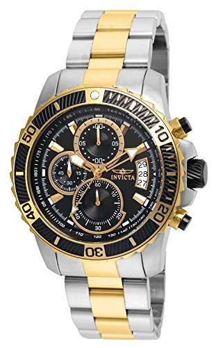 Invicta Men s Pro Diver Quartz Watch with Stainless Steel Strap, Two Tone, 22 Model 22418