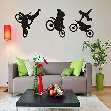Amazoncom ColorfulHall 6075cm Motorcycle Wall Decal Racer Tricks
