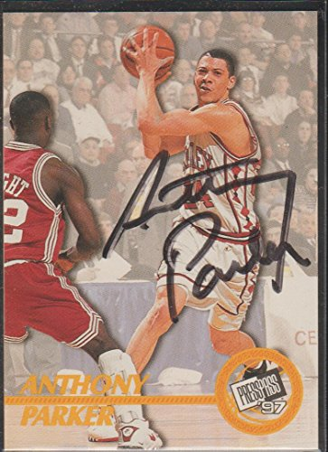 1997 Press Pass Anthony Parker Autographed Basketball Card #NNO ()