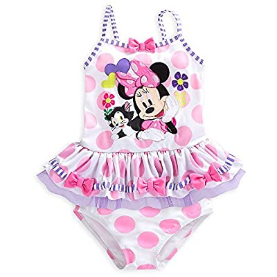 Disney Minnie Mouse Clubhouse Deluxe Swimsuit for Girls - 2-Piece White