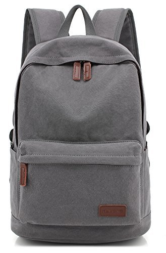 KAYOND Casual Style Lightweight canvas Laptop Bag/Cute backpacks/School Backpack (Gray) [並行輸入品]   B07896BRXW