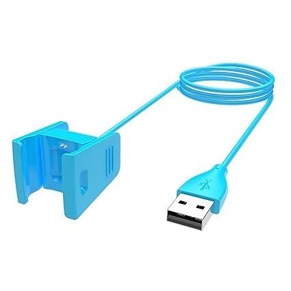 Kobwa - Cargador para Fitbit Charge 2 - Base de carga y cable USB de repuesto de 1 m de longitud para la pulsera de actividad de ritmo cardíaco Fitbit ...