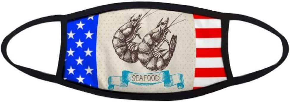 cold master DIY lab Seafood Shrimp Marine Organism Mouth Mask Warmer Anti Dust Stars Stripes Flag