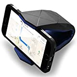 """Universal Car Mount,Spider-BX(TM)Hippo Mouth Style Windshield Dashboard Stand Holder Rack for iPhone 6s Plus / 6s Galaxy S7 edge, and Most Smartphones, (Compatible width between 3.3"""" to 6"""")Blue"""