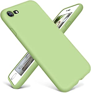 DTTO iPhone SE Case 2020,iPhone 7 8 Silicone Phone Case, [Romance Series] Shockproof Anti-Drop Phone Case with Honeycomb Grid Cushion for Apple iPhone 7/8/SE 2020, 4.7 inch, Spring Green