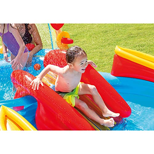 Intex Rainbow Ring Inflatable Play Center, 117 X 76 X 53, for Ages 2+