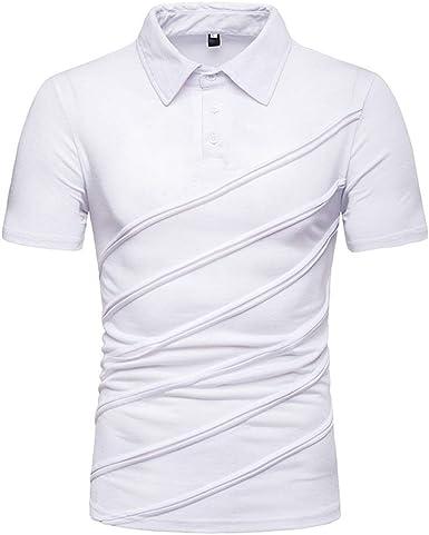 Camisa Polo para Hombre Contraste Cuello Golf Tenis Camisa De Manga Corta Tops: Amazon.es: Ropa y accesorios