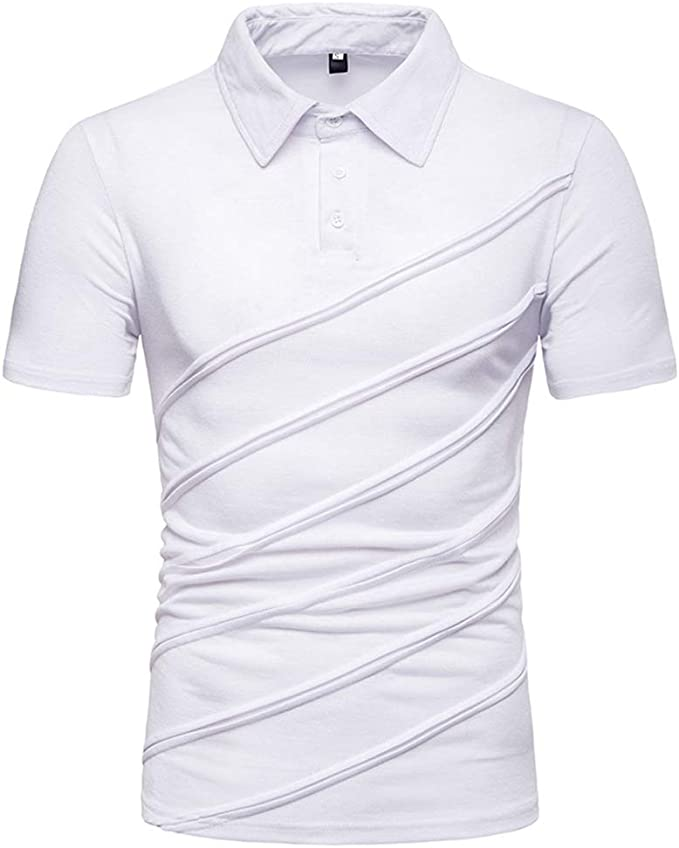 Camisa Polo para Hombre Contraste Cuello Golf Tenis Camisa De ...