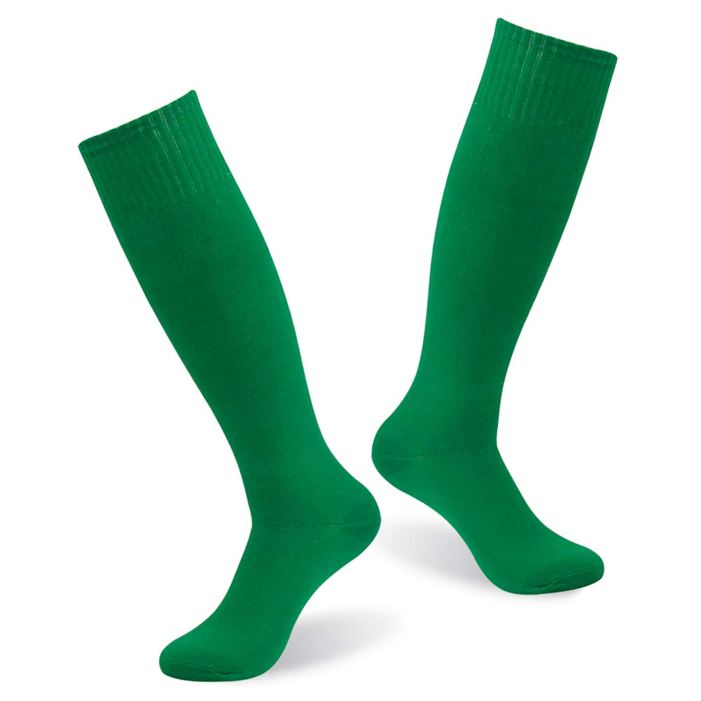 Mens Team Sport Socks, diwollsam Performance Soccer Sport Basketball Volleyball Baseball Bright Color Long Tube Comfy Outdoor Socks 2 Pairs(Green) by diwollsam