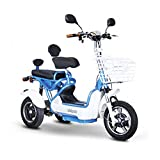 E-Wheels EW-27 Crossover Pre-Mobility Scooter - White-Blue