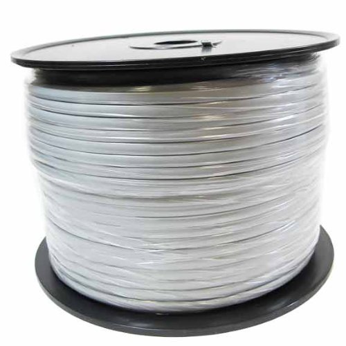 SF Cable, 1000ft 28 AWG RJ12 6P6C Modular Telephone Cable by SF Cable