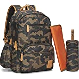 Bambalino Elemento Luxury Diaper Backpack | Family Travel Bag (Camo)