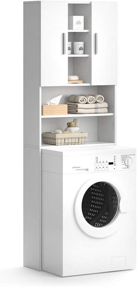 Vicco Waschmaschinenschrank Luis Weiss 190 X 64 Cm Badregal