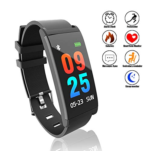 DAWO Fitness Tracker,Color Screen Activity Tracker Watch with Blood Pressure Blood Oxygen, IP68 Waterproof Smart Band with Heart Rate Sleep Monitor Calorie Counter Pedometer for Men, Women and Kids