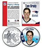 TOM BRADY Colorized Massachusetts State Quarter U.S. Coin NFL Patriots LICENSED