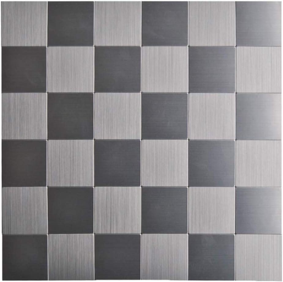 - Amazon.com: KASARO Backsplash Peel And Stick Mosaic Tile Aluminum