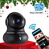 1080P Indoor Wireless WiFi Home IP Security Camera - Littlelf Panoramic Camera with PTZ, 2-Way Audio, Night Vision, Remote Monitor with iOS & Android App, Micro SD Card or Cloud Storage