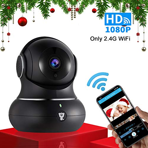 1080P Wireless Indoor IP Camera - Littlelf WiFi Home Security Surveillance IP Camera with PTZ, 2-Way Audio, Night Vision, 3D Navigation Panorama, Remote Monitoring with iOS and Android, Cloud ()