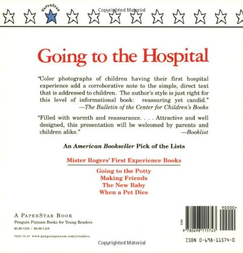 going to the hospital mr rogers fred rogers amazoncom books