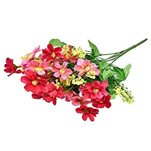 FYYDNZA 1Pc Artificial Flowers Jump Orchid Chrysanthemum Flower Silk Dry Dummy Flowers For Wedding Party Home Decoration 13