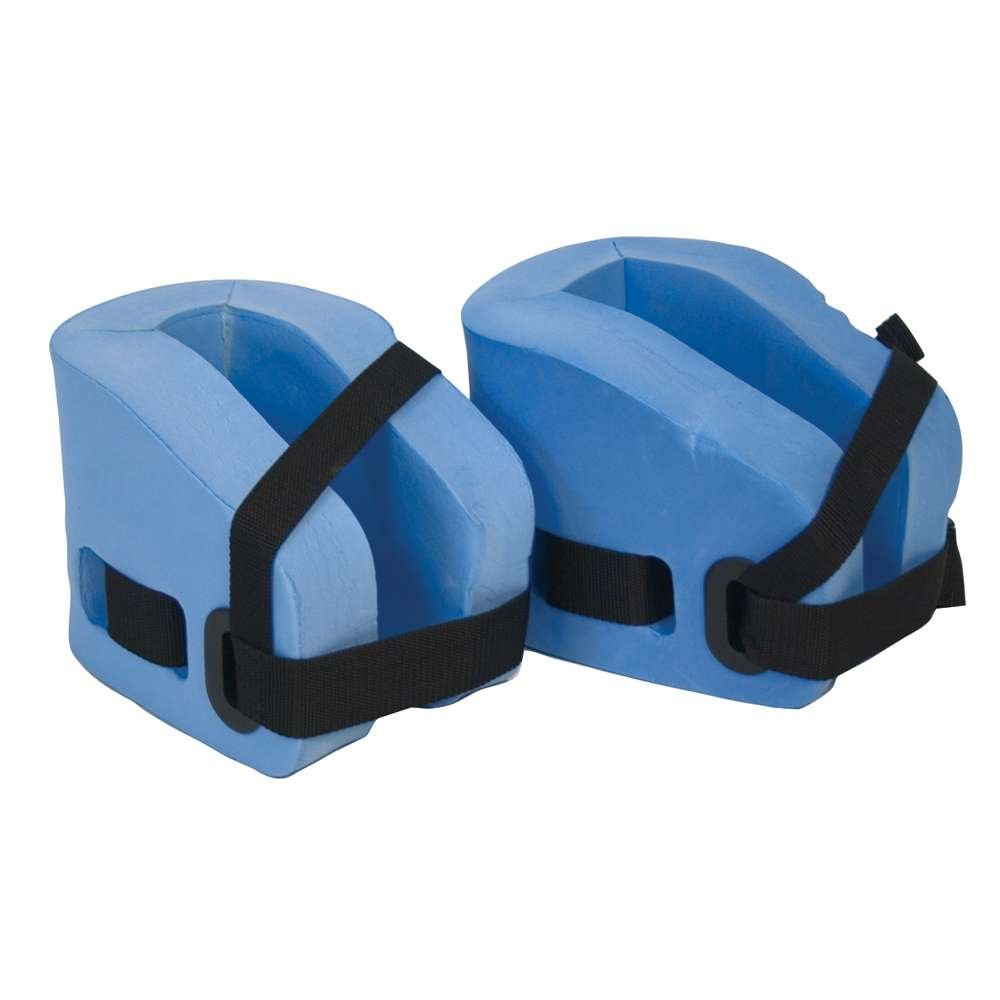 Power Systems Aquatic Resistance Ankle Cuffs for Swim Fitness Training, Adjustable, 2-Pack, Blue/Black (86595)