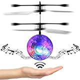 AutumnFall Kids Toy RC Flying Ball, Infrared Induction Drone Helicopter Ball Built-in Shinning LED Lighting with Remote Switch Control for Kids, Teenagers (Built-in Disco Music)