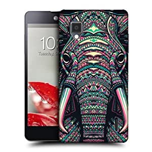 Cerhinu Head Case Elephant Aztec Animal Faces Hard Back Case Cover For Lg Optimus G E975