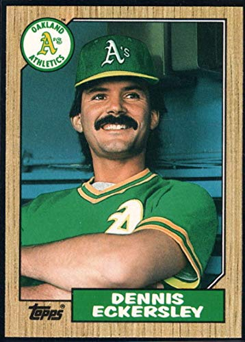 Baseball MLB 1987 Topps Traded #31 Dennis Eckersley Athletics ()