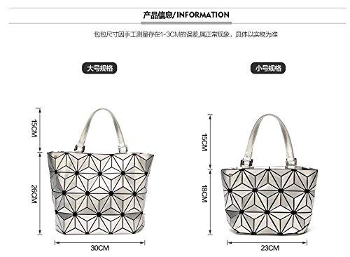 Black Big Tote Bag de Geometría Mujeres Llanura Lentejuelas Plegable Size cubo Bolso small Espejo Bolsas 7qzwx6x