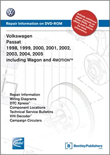 volkswagen passat 1998, 1999, 2000, 2001 2002, 2003, 2004, 2005: repair  manual on dvd-rom: including wagon and 4motion dvd-rom – apr 1 2009