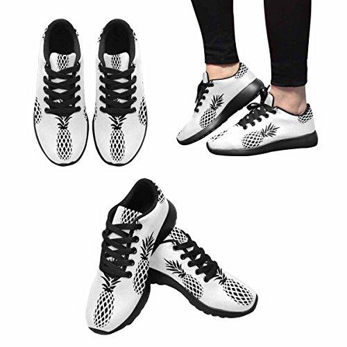 Scarpe Da Corsa Trail Running Da Donna Jogging Leggero Sportivo Da Passeggio Sneaker Atletico Bianco E Nero Ananas Minimalista Multi 1