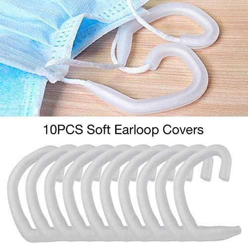 prom-note 10PCS Silikon Haken Ohrbügel Earloop Abdeckung Weich Bequem Gehörschutzhaken Ohrhörer Gel