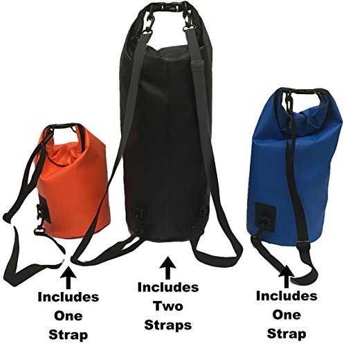3 Bag Set - DRY VAULT – DRY BAG SETS – 500D PVC Tarpaulin – 20L, 10L, 5.8L with shoulder straps - WEATHERPROOF - WATERPROOF BAGS - BEST DEAL ON AMAZON - 100% Guaranteed -3 QUALITY Bags for Price of 1 by EasyGoProducts (Image #2)