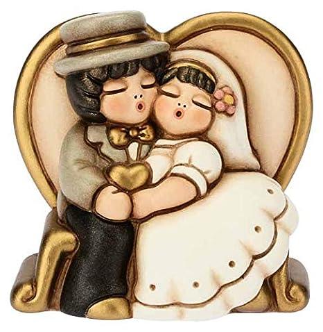 Bomboniere Matrimonio Thun 2019.Thun Coppia Di Sposini Piccoli Su Panchina Bomboniera In Ceramica H 6 85 Cm
