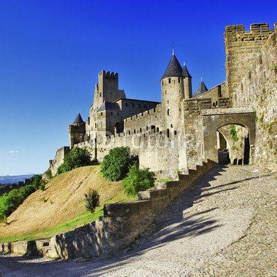 Con diseño de Castillo de la Francia medieval - Carcassonne (73783623), madera 3 mm, 30 x 30 cm: Amazon.es: Hogar