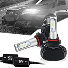 9012 LED Headlight bulb CANBUS Error Free 8000LM 6000K-6500K Cool White All In One Conversion Kit CSP Chips Driving Fog Light Bulbs Replacement for HID or Halogen - 1 Year Warranty
