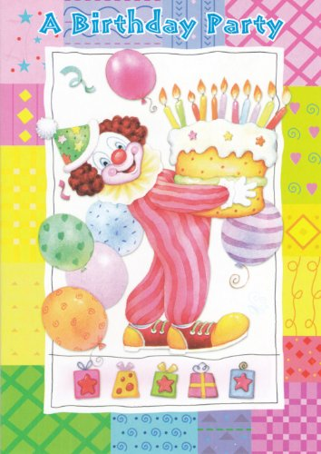 Birthday Party Invitations (Clowns) 48 Pack
