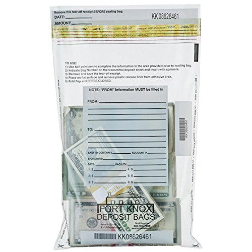 Clear Deposit Bags - 9 x 12 - Box of 100 Bags