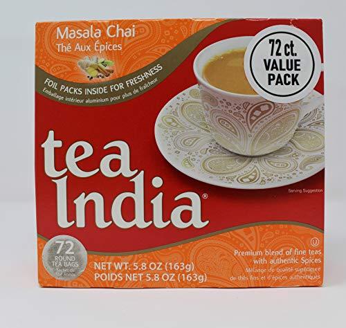 India Masala Chai Tea - Tea India Masala Chai Tea (72 tagless tea bags)