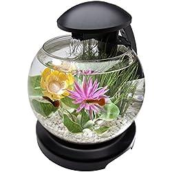 Tetra Waterfall Globe Aquarium Bowl with LEDs, 1.8 gallon