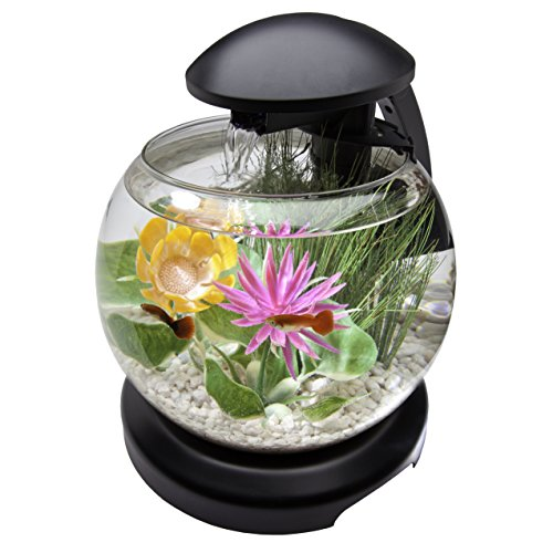 Tetra Waterfall Globe Aquarium Bowl with LEDs, 1.8 gallon