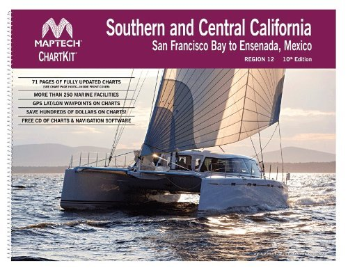 Mexico Offshore Fishing Map - Maptech ChartKit Region 12: Southern and Central California San Fransico Bay to Ensenada, 10th Edition