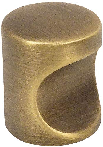 10 Pack - Cosmas 3312BAB Brushed Antique Brass Contemporary Cabinet Hardware Finger Pull - 3/4